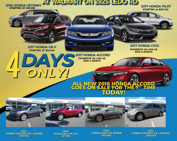Albany Honda Off Site Sales Event